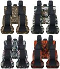Truck Seat Covers Fits 2015-18 Ford F150 Front Rear Camo Pattern & Black ABF