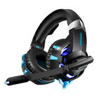 K2A BLACK Red Gaming Headset Wired Stereo Game Headphones +Crystal Clear Sound