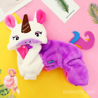 Warm Halloween Small Dog Costume Jumpsuit Winter Pet Cat Clothes Holiday Cosplay