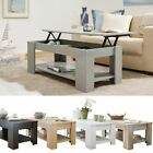MODERN LIFT-UP EASY STORAGE COFFEE WOODEN ESPRESSO TABLE WITH UNDERSHELF LOUNGE