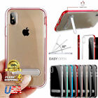 For iPhone10 X 8 7 6S Clear Bumper Silicone Case With Kick S