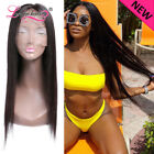 Brazilian Straight Virgin Human Hair Lace Front Wig Pre Plucked with Baby Hair