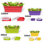Silicone Collapsible Lunch Bento Box Portable Food Storage Container Travel