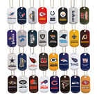 NFL LOGO DOG TAGS DOGTAG KEY CHAIN OR NECKLACE CHOOSE YOUR TEAM