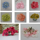 Pack of 10 Artificial Silk Hydrangea Flower Heads for Flower Wall Decorations