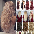 Long Straight Curly Clip In Full HEAD Hair Extensions 1 Piec