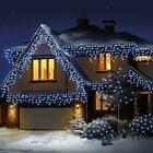 960 Super Bright LED Snowing Effect Icicle Outdoor Christmas Lights Remote Timer
