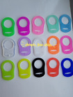 1-100 MAM STYLE RING CLIPS SILOCONE DUMMY ADAPTERS 15 COLOURS UK SELLER