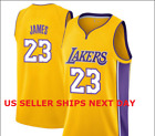 NEW Los Angeles Lakers LeBron James #23 YELLOW basketball jersey SIZE M-L-XL