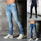 Mens Jegging Denim Pants Slim Fit Jeans Retro Stretchy Skinny Jeans Long Pants