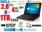 Custom Special! Dell Laptop Business 2.8ghz Notebook 1tb Sshd Wifi New! Battery
