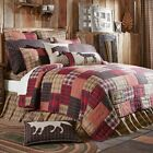 VHC Wyatt Quilt (Your Choice Size & Accessories) Country Farmhouse Plaid Bedding image