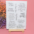 Silicone Clear Stamp Transparent Rubber Stamps DIY Scrapbook Christmas Exquisite