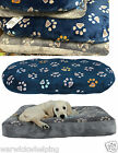 Dog Bed Super Soft Luxury Paw Print Dog Puppy Bed Blue use plastic bed or crate