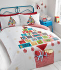 Advent Christmas Duvet Cover and 2 Pillowcase Set, White - S/D/KS