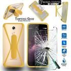 Tempered Glass Screen Protector + silicone bumper Stand Case for HomTom Phones