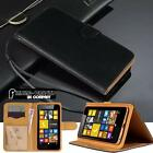 Black Flip Cover Stand Wallet Leather Case For Various Nokia Lumia Mobile Phones