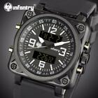 Aviator Analog Digital Watches for Men Army Square Relogio Masculino image