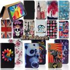 Flip Leather Wallet Card Stand Cover Case For Samsung Galaxy Phones + Strap