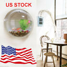 Wall Mount Hanging Fish Bowl Aquarium Tank Beta Goldfish Hanger Plant Home Decor