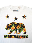 California Bear floral print T-shirt (Large) Men's fit- NEW