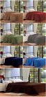 New Solid Super Soft Micro Plush Blanket 4 Different Size, 9 Colors Warm Bedding image