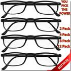 READING GLASSES LENS 2,4,8,12 PACK LOT CLASSIC READER UNISEX MEN WOMEN STYLE LOT