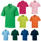 RUSSELL MENS CLASSIC SHORT SLEEVE COTTON PIQUE POLO SHIRT XS-4XL 569M