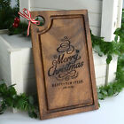 Personalised Engraved Christmas Acacia Wood Deluxe Mini Chopping Board Gift 25cm
