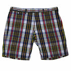 Polo Ralph Lauren Mens Shorts India Madras Slim Fit Flat Front Casual Bottoms 36