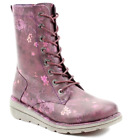 Ladies Mid Calf Boots Heavenly Feet Zip Up Memory Foam Casual Winter Lace Shoes