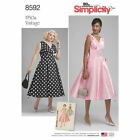 Simplicity 8592 Sewing Pattern 1950's Vintage Dress Misses 10-18 ONLY Last Few