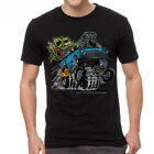 "Rat Fink 55' Blue Chevy Ed ""Big Daddy"" Men's Black T-shirt NEW Sizes S-2XL image"