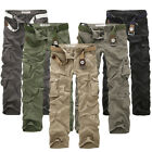 US Mens Hiking Camping Army Cargo Combat Military Trousers Casual Work Pants