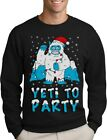 Yeti To Party Ugly Christmas Funny Bigfoot Sasquatch Santa Sweatshirt Sweater
