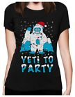 Yeti Ugly Christmas Funny Bigfoot Sasquatch Santa Women T-Shirt Sweater
