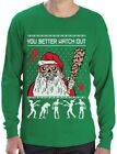 Ugly Christmas Sweater Zombie Walker Scarys and Dead Santa Long Sleeve T-Shirt