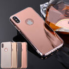 Luxury Ultra Thin Silicone TPU Mirror Case For Apple iPhone X 8 7 6s Plus 5 SE
