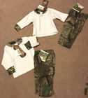 Realtree APG Infant/Toddler 2 PC Pants & LS White/Camo Tee