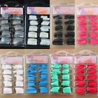 100Pcs Acrilico Diy Gel French Nail Art Colorati Tips Finte Unghie Insoliti