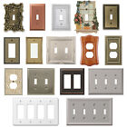 Внешний вид - Wall Switch Plate Cover Outlet Toggle Decora Rocker Duplex Nickel Wallplate NEW