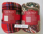 "Внешний вид - New Ralph Lauren Throw Blanket Tartan Plaid or Christmas Paisley Plush 60""x70"""