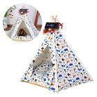 Pet Teepee Dog(Puppy) & Cat Bed - Portable Dog Tents & Pet Houses with Cushion