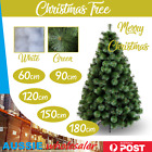 Deluxe Christmas Tree 60/90/120/150/180 cm Xmas Decoration Green Snowy White