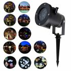 Lots Outdoor Xmas LED Laser Projector Light Landscape Garden Xmas Lamp 12 Slides