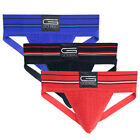 Golberg Athletic Supporter with a Naturally Contoured Waistband - 3 Pack Strap