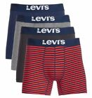 Levi's 4-Pack Men's Cotton Stretch Boxer Briefs Navy/Red Assorted Combo