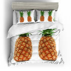 Single Double Twin Full Queen King Bed Pillowcase Quilt Cover LRau Pineapple lgb