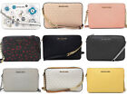 Michael Kors Jet Set East West Large Crossbody Leather PVC Canvas Signature MK image