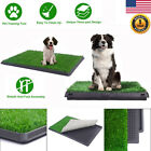 Indoor Pet Toilet Dog Grass Pad Pee Mat Restroom Potty Training with Tray 3 Size